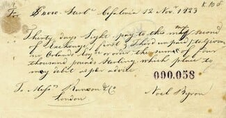 Στο «φως» η επιταγή των 4.000 λιρών που έδωσε ο Λόρδος Βύρωνας για την απελευθέρωση της Ελλάδας
