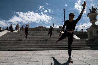 Η πλατεία Συντάγματος «γέμισε» αθλητικά παπούτσια - Διαμαρτυρία ιδιοκτητών γυμναστηρίων