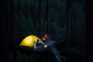 Ιαπωνία: Πάρκο προσφέρει την εμπειρία του ύπνου σε μια σκηνή «στον αέρα»