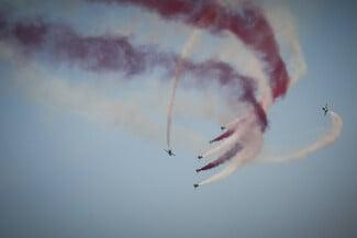 Athens Flying Week: Εικόνες από τις αεροπορικές επιδείξεις στην Τανάγρα
