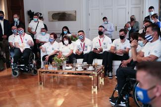 Την ελληνική Παραολυμπιακή ομάδα υποδέχτηκε στο Μαξίμου ο πρωθυπουργός - «Μας κάνατε περήφανους»