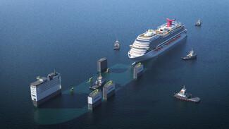 To θηριώδες πλοίο που μπορεί να μεταφέρει κρουαζιερόπλοια στο κατάστρωμά του- «Αξιοποιήσαμε την αρχή του Αρχιμήδη»