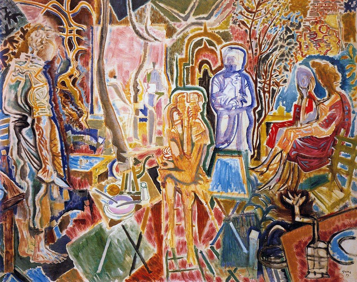 Αποτέλεσμα εικόνας για χατζηκυριάκος γκίκας πινακες