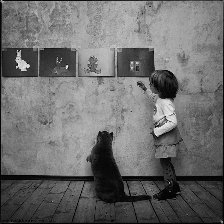 8158e668a56e Μια δυνατή σχέση  Το κορίτσι και η γάτα