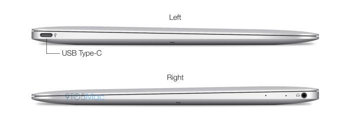 """Μοναδικές είσοδοι του νέου Macbook Air πιθανολογείται ότι θα είναι αυτές του USB """"διπλής όψης"""" και των ακουστικών"""